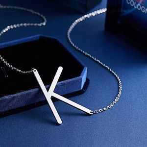 Jewelry - ✨ • SILVER Woman's Name Initial Necklace   K  *NWT